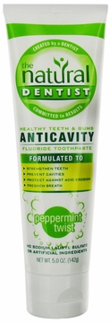 Healthy Teeth and Gums Original Toothpaste Peppermint Twist Flavor by Natural Dentist - 5oz.
