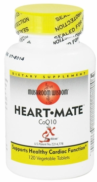 Mushroom Wisdom Heart-Mate with CoQ10/SX-Fraction - 120 Vegetarian Tablets