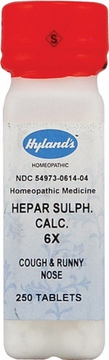 Hepar Sulphuris Calcareum 6X by Hylands - 250 Tablets