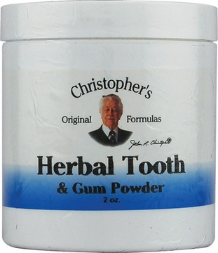 Herbal Tooth and Gum Powder by Dr. Christopher's - 2oz.