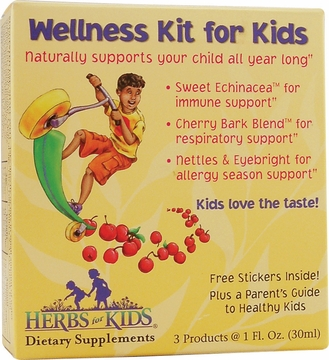 Herbs for Kids Wellness Kit for Kids by Heritage Store - 3 Pieces