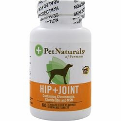Pet Naturals of Vermont Hip + Joint for Dogs - 60 Chewable Tablets