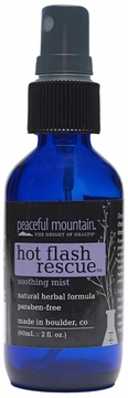 Peaceful Mountain Hot Flash Rescue Homeopathic Spray - 2 Fluid Ounces