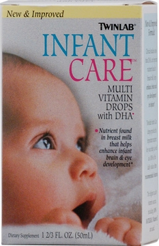 Twinlab Infant Care Multivitamin Drops with DHA - 1.7 Fluid Ounces