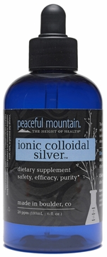 Peaceful Mountain Ionic Colloidal Silver - 6 Fluid Ounces