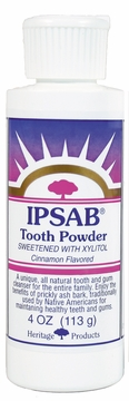 IPSAB Tooth Powder Cinnamon by Heritage Store - 4oz.