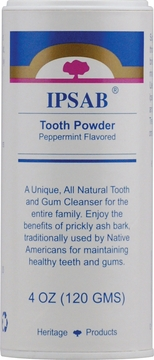 IPSAB Tooth Powder Peppermint by Heritage Store - 4oz.