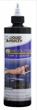 K-9 Liquid Health Ear Solutions (Ear Cleaner) by Liquid Health Inc. - 12oz.