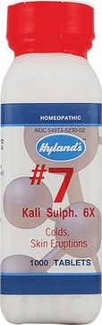 Kali Sulphuricum 6X by Hylands - 1000 Tablets