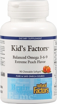 Kid's Factors Balanced Omega 3-6-9 by Natural Factors - 90 Chewable Softgels