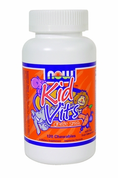 Now Foods Kid Vits Orange Splash - 120 Chewable Tablets