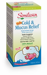 Similasan Kids Cold & Mucus Relief Expectorant Syrup - 4 Fluid Ounces
