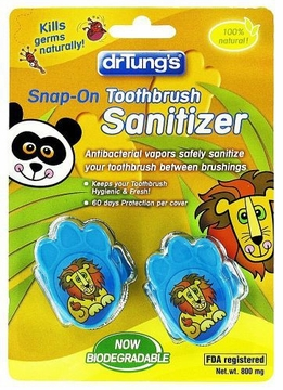 Kids' Snap-On Toothbrush Sanitizer by Dr. Tung's - 2 Sanitizers