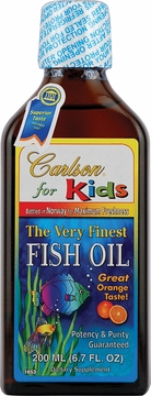 Kids Very Finest Fish Oil Orange Flavor by Carlson Labs - 200 ml