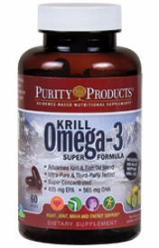 Krill Omega-3 Super Formula by Purity Products - 60 Soft Gels