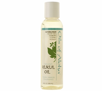 Kukui Nut Oil (Scented) w /Tropic Breeze Fragrance by Oils of Aloha - 4oz.