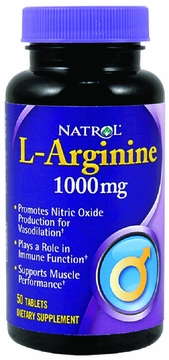 L-Arginine 1000mg by Natrol - 50 Tablets