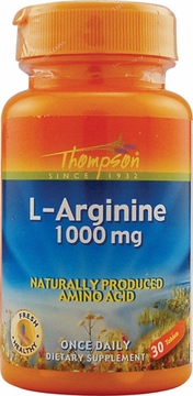 Thompson Nutritional L-Arginine 1000 mg - 30 Tablets