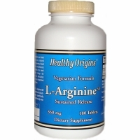 L-Arginine 350mg by Healthy Origins - 180 Tablets