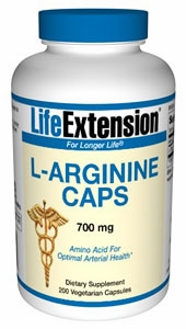 L-Arginine Caps 700 mg by Life Extension - 200 Vegetarian Capsules