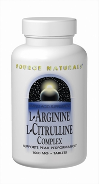 Source Naturals L-Arginine L-Citrulline Complex 1000 mg - 120 Tablets