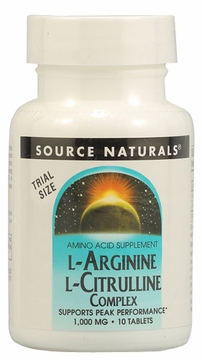 Source Naturals L-Arginine L-Citrulline Complex 1000 mg - 10 Tablets