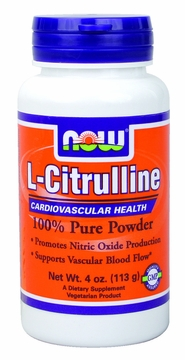 Now Foods L-Citrulline Pure Powder - 4 Ounces