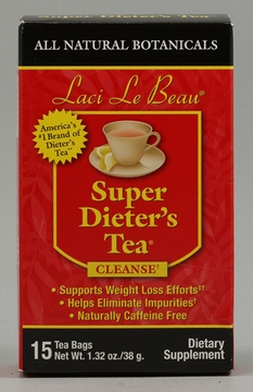 Laci Le Beau Super Dieter's Tea All Natural Botanicals by Natrol - 15 Tea Bags