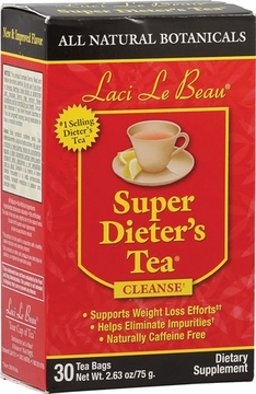 Laci Le Beau Super Dieter's Tea All Natural Botanicals by Natrol - 30 Tea Bags