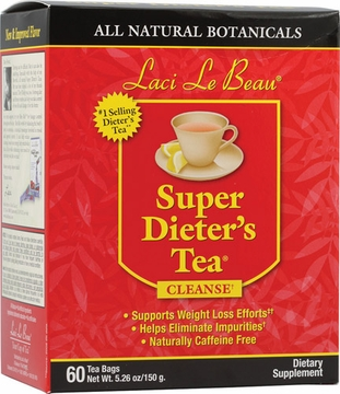 Laci Le Beau Super Dieter's Tea All Natural Botanicals by Natrol - 60 Tea Bags