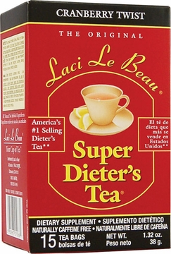 Laci Le Beau Super Dieter's Tea Cranberry Twist by Natrol - 15 Tea Bags