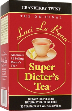 Laci Le Beau Super Dieter's Tea Cranberry Twist by Natrol - 30 Tea Bags