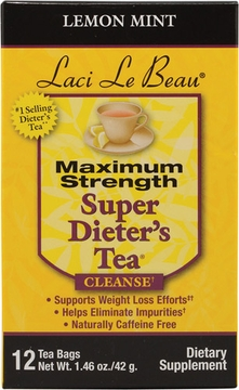 Laci Le Beau Super Dieter's Tea Lemon Mint by Natrol - 12 Tea Bags