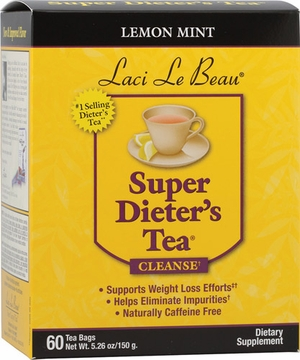 Laci Le Beau Super Dieter's Tea Lemon Mint by Natrol - 60 Tea Bags