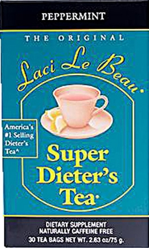 Laci Le Beau Super Dieter's Tea Peppermint by Natrol - 30 Tea Bags