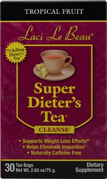 Laci Le Beau Super Dieter's Tea Tropical Fruit by Natrol - 30 Tea Bags