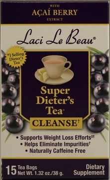 Laci Le Beau Super Dieter's Tea with Acai Berry Extract by Natrol - 15 Tea Bags