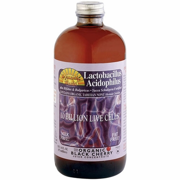 Lactobacillus Acidophilus Liquid in Black Cherry Flavor by Dynamic Health Laboratories - 16 oz