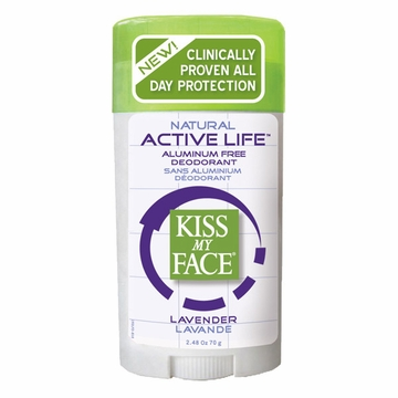Kiss My Face Paraben Free Active Enzyme Deodorant Stick (Lavender) - 2.48 Ounces