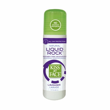 Kiss My Face Paraben free Liquid Rock Roll-On Deodorant (Lavender) - 3 Ounces
