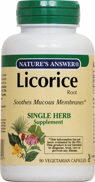 Licorice Root by Nature's Answer - 90 Vegetarian Capsules