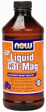 Now Foods Liquid Cal-Mag Blueberry - 16 Fluid Ounces