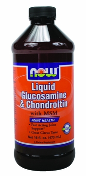 Now Foods Liquid Glucosamine & Chondroitin with MSM - 16 Fluid Ounces