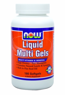 Now Foods Liquid Multi Gels - 180 Softgels