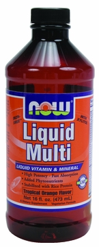 Now Foods Liquid Multi Tropical Orange - 16 Fluid Ounces