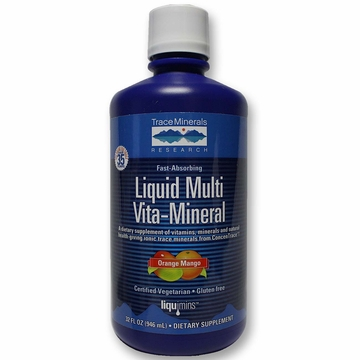 Liquid Multi Vita-Mineral Orange-Mango by Trace Minerals - 30 oz