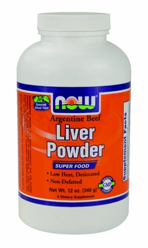 Now Foods Liver Powder - 12 Ounces