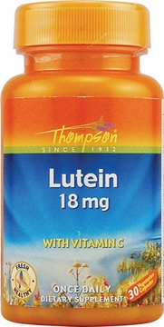 Thompson Nutritional Lutein with Vitamin C 18 mg - 30 Veg Capsules