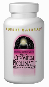 Source Naturals Mega Chromium Picolinate 300 mcg - 120 Tablets