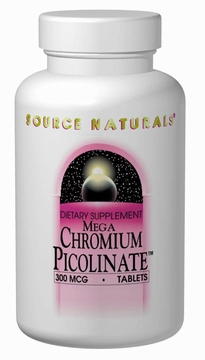 Source Naturals Mega Chromium Picolinate 300 mcg - 60 Tablets